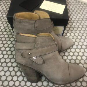 Rag & Bone Harrow Boots Booties Sz 37 or 7 Gray